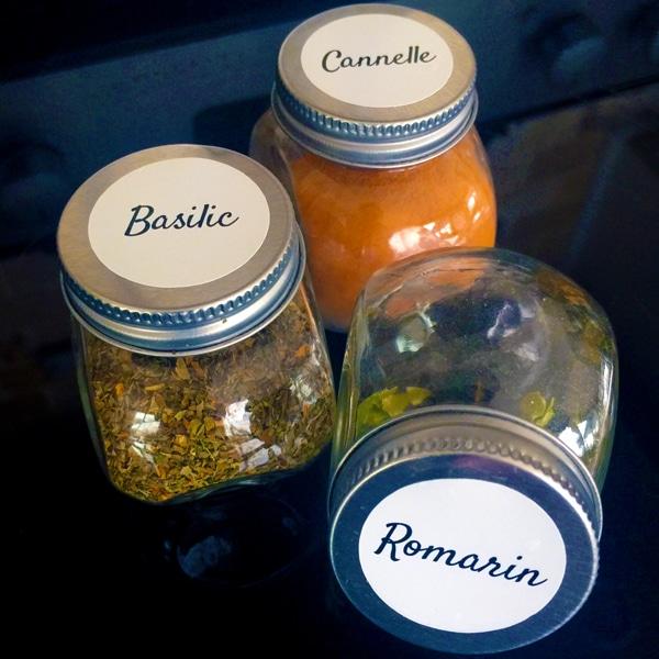 Étiquettes pour pots d'épices personnalisées cestamoi