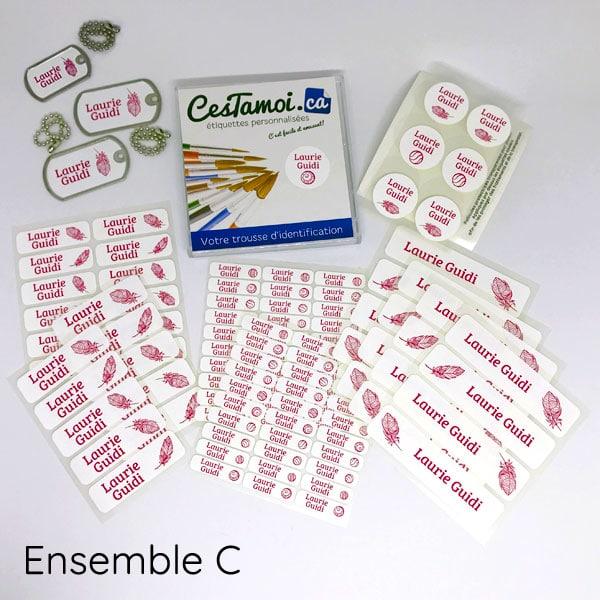 Étiquettes personnalisées école cestamoi