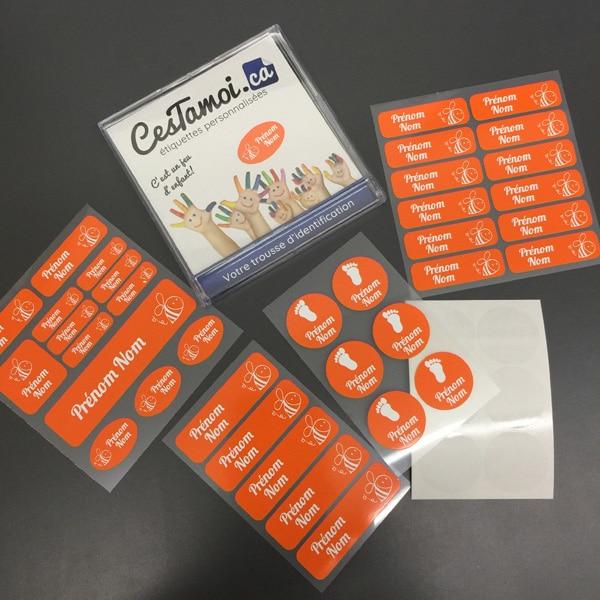 Étiquettes Cestamoi.ca pour la garderie