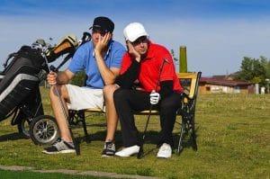 Golfeur déçu - bâton perdu