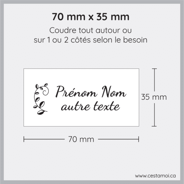 Étiquettes à coudre nylon Cestamoi